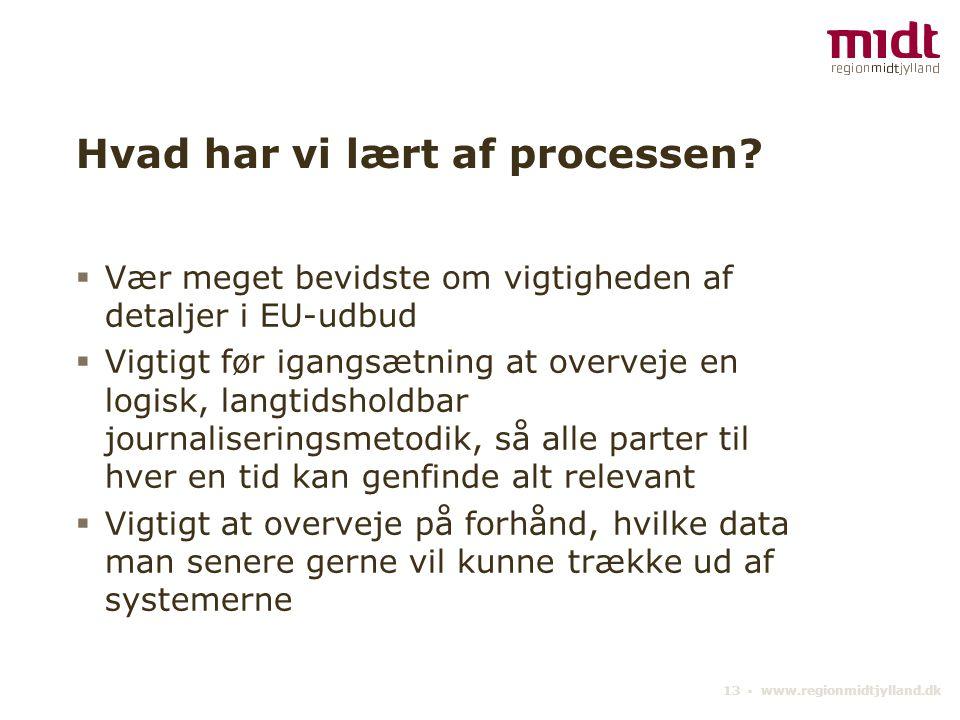 13 ▪ www.regionmidtjylland.dk Hvad har vi lært af processen.