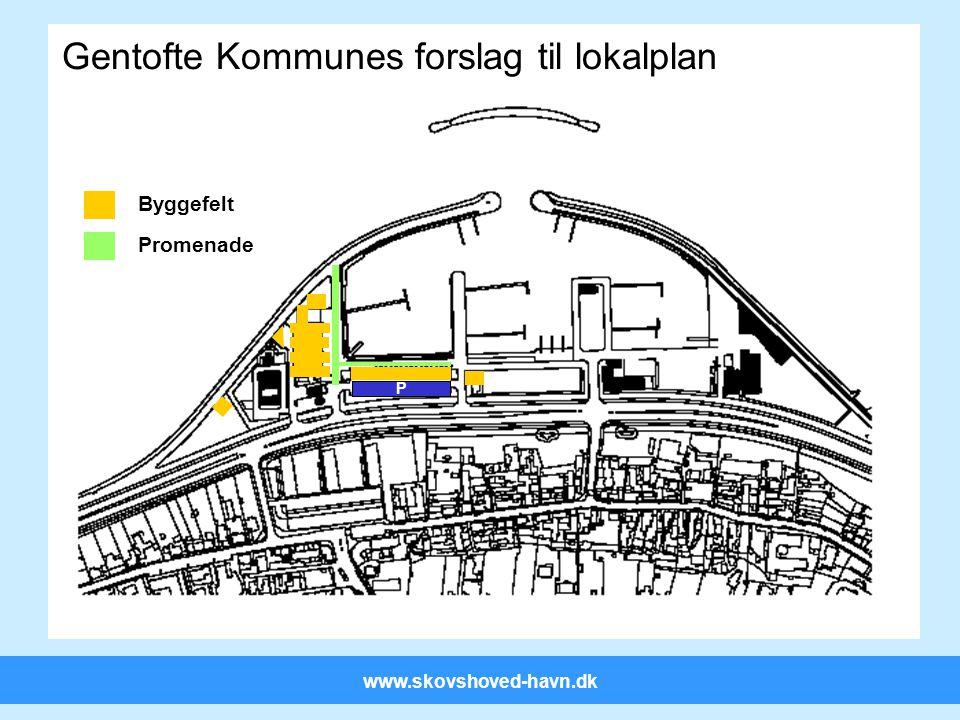www.skovshoved-havn.dk P Gentofte Kommunes forslag til lokalplan Byggefelt Promenade