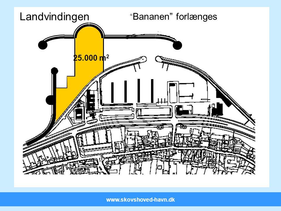 www.skovshoved-havn.dk Landvindingen 25.000 m 2 Bananen forlænges