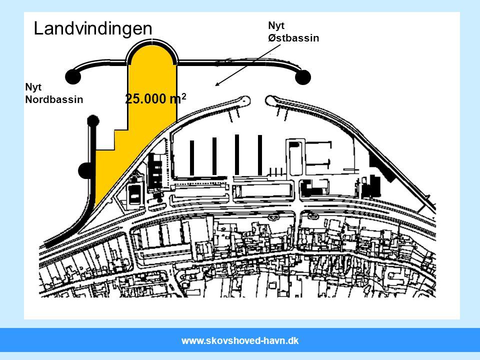 www.skovshoved-havn.dk Landvindingen 25.000 m 2 Nyt Østbassin Nyt Nordbassin