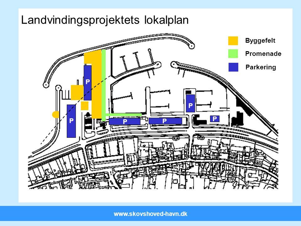 www.skovshoved-havn.dk P P Landvindingsprojektets lokalplan Byggefelt Promenade P P P Parkering P