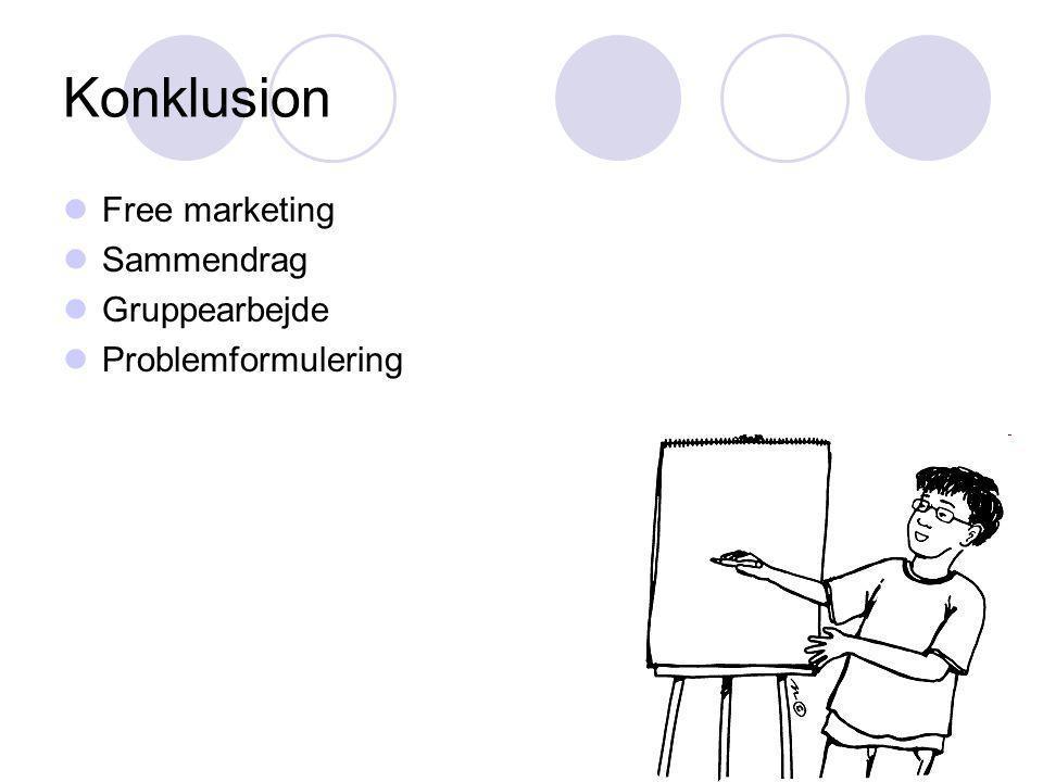 Konklusion Free marketing Sammendrag Gruppearbejde Problemformulering