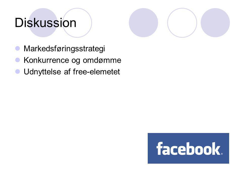 Diskussion Markedsføringsstrategi Konkurrence og omdømme Udnyttelse af free-elemetet