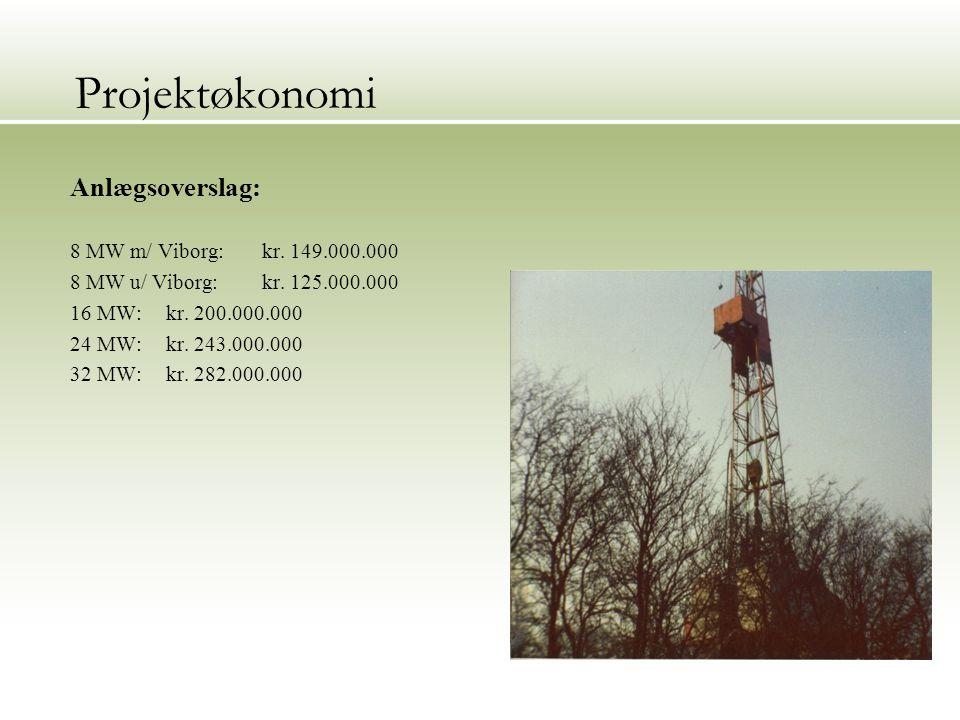 Projektøkonomi Anlægsoverslag: 8 MW m/ Viborg:kr. 149.000.000 8 MW u/ Viborg: kr.