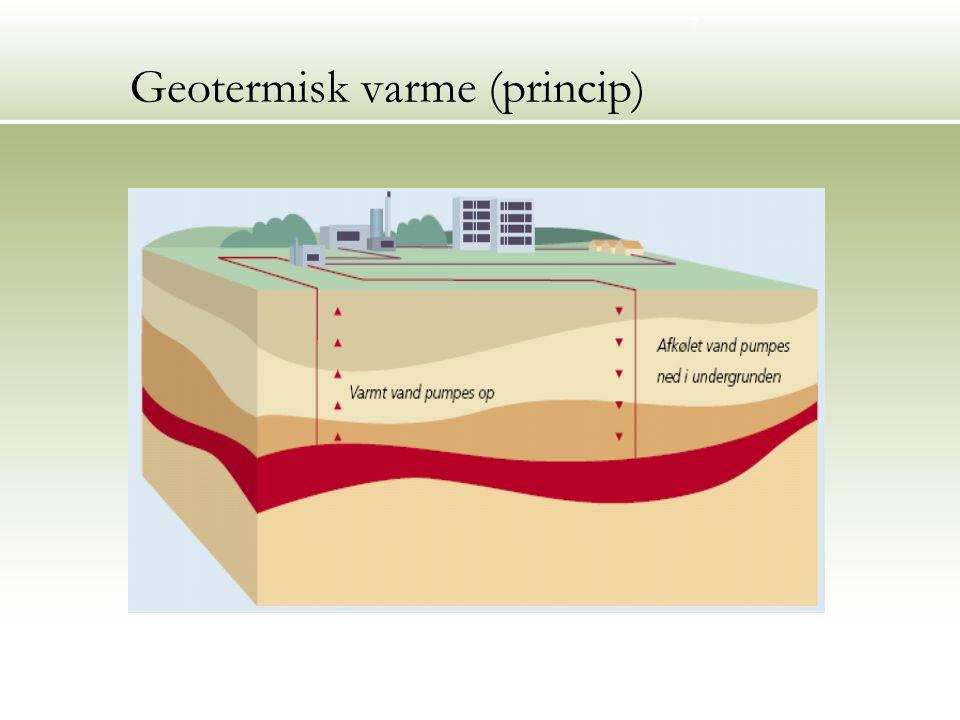 7 Geotermisk varme (princip) Geotermisk princip (DONG)