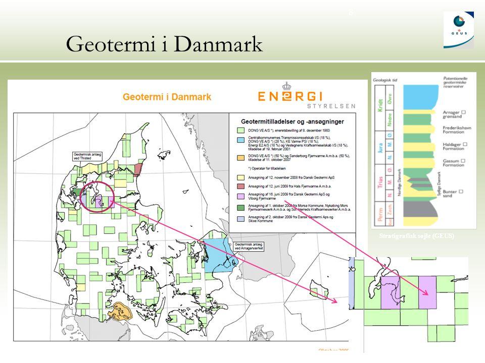 8 Geotermi i Danmark Stratigrafisk søjle (GEUS)