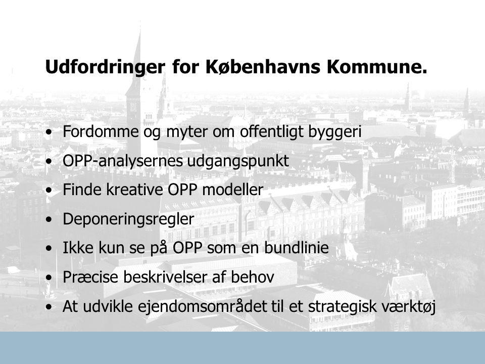 Udfordringer for Københavns Kommune.