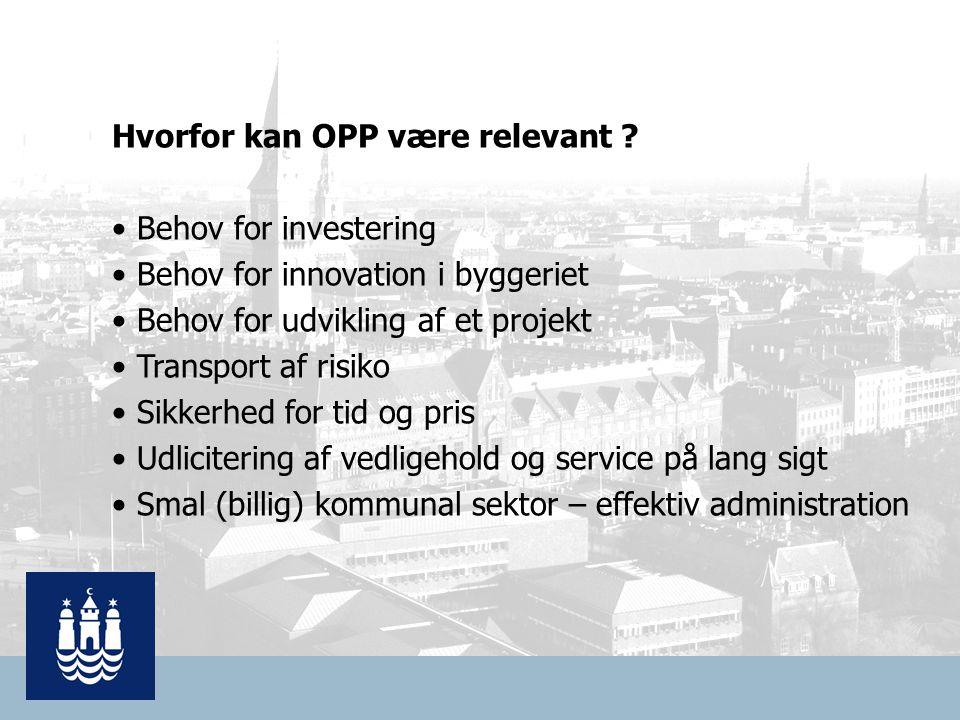 Hvorfor kan OPP være relevant .