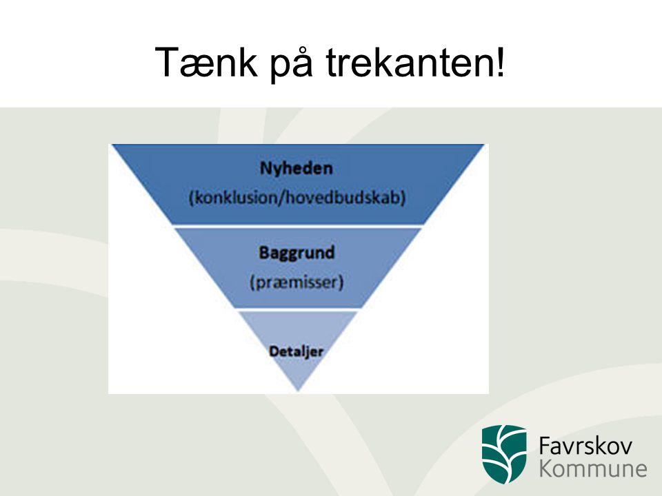 Tænk på trekanten!