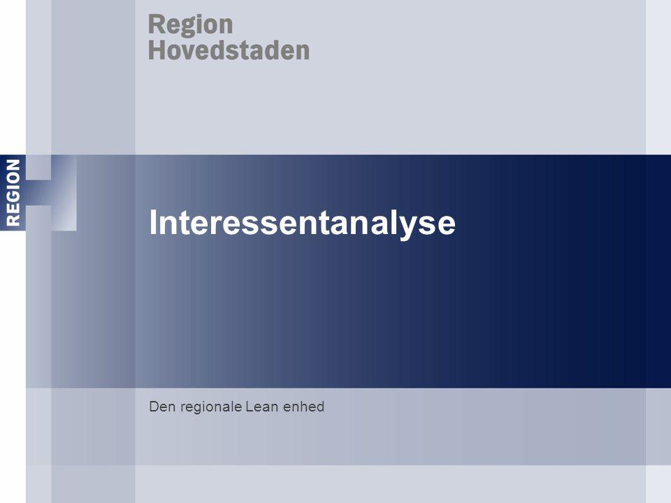 Interessentanalyse Den regionale Lean enhed