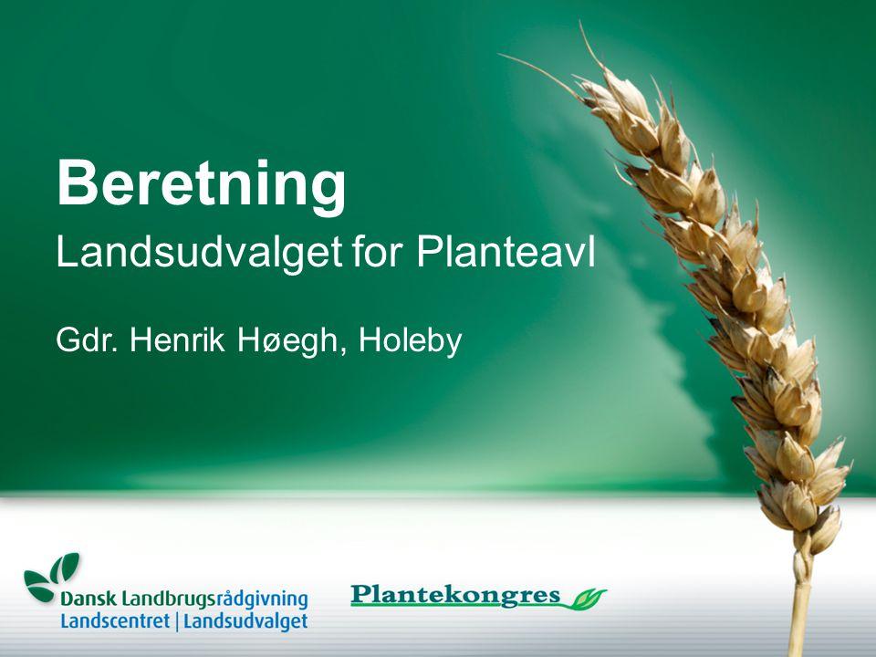 Beretning Gdr. Henrik Høegh, Holeby Landsudvalget for Planteavl