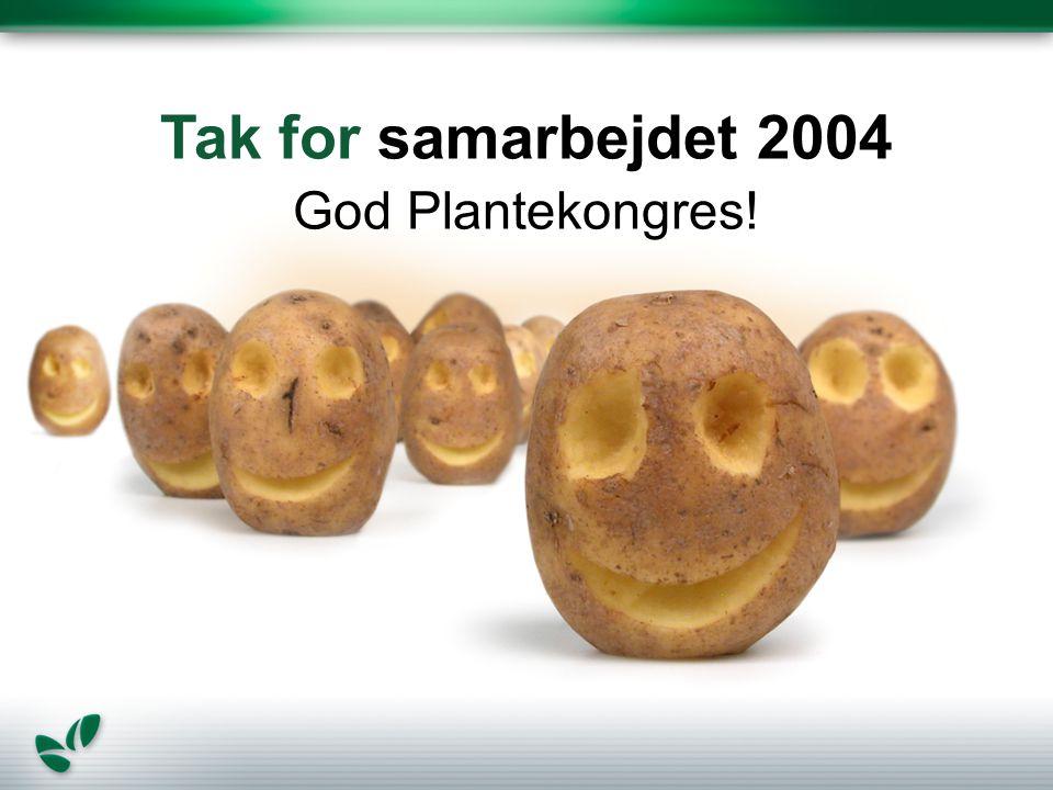 Tak for samarbejdet 2004 God Plantekongres!