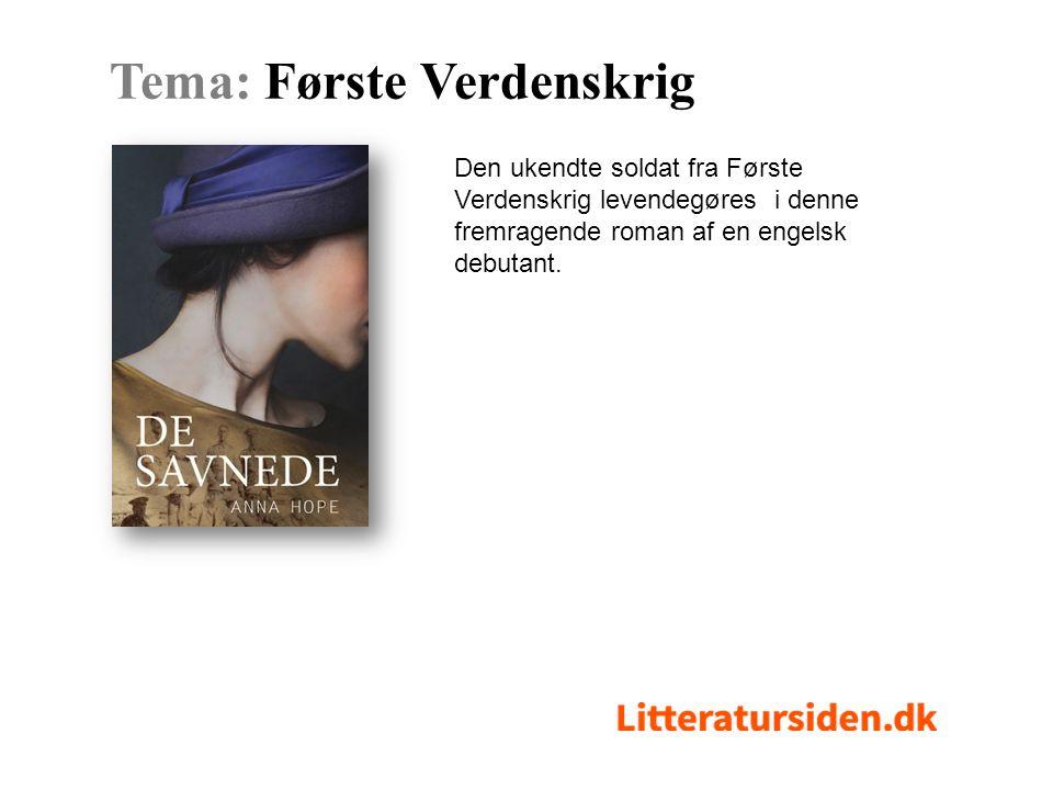 Den ukendte soldat fra Første Verdenskrig levendegøres i denne fremragende roman af en engelsk debutant.