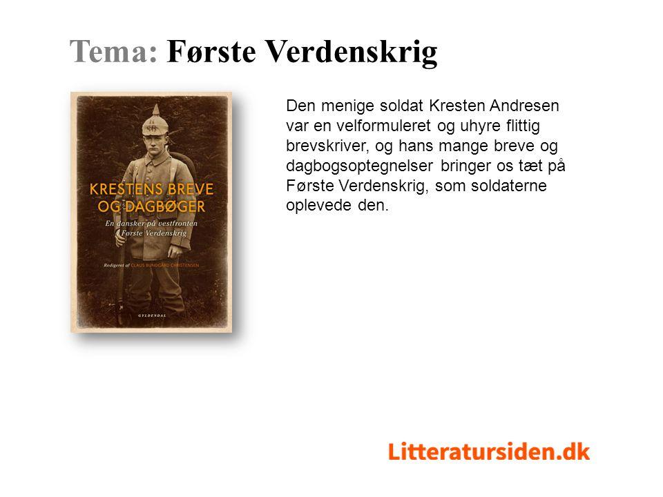 Den menige soldat Kresten Andresen var en velformuleret og uhyre flittig brevskriver, og hans mange breve og dagbogsoptegnelser bringer os tæt på Første Verdenskrig, som soldaterne oplevede den.