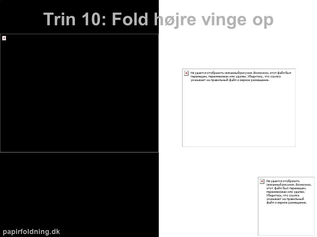 papirfoldning.dk Trin 10: Fold højre vinge op