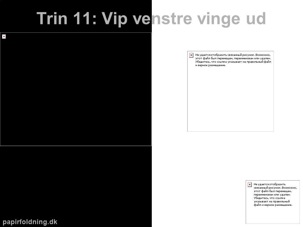 papirfoldning.dk Trin 11: Vip venstre vinge ud