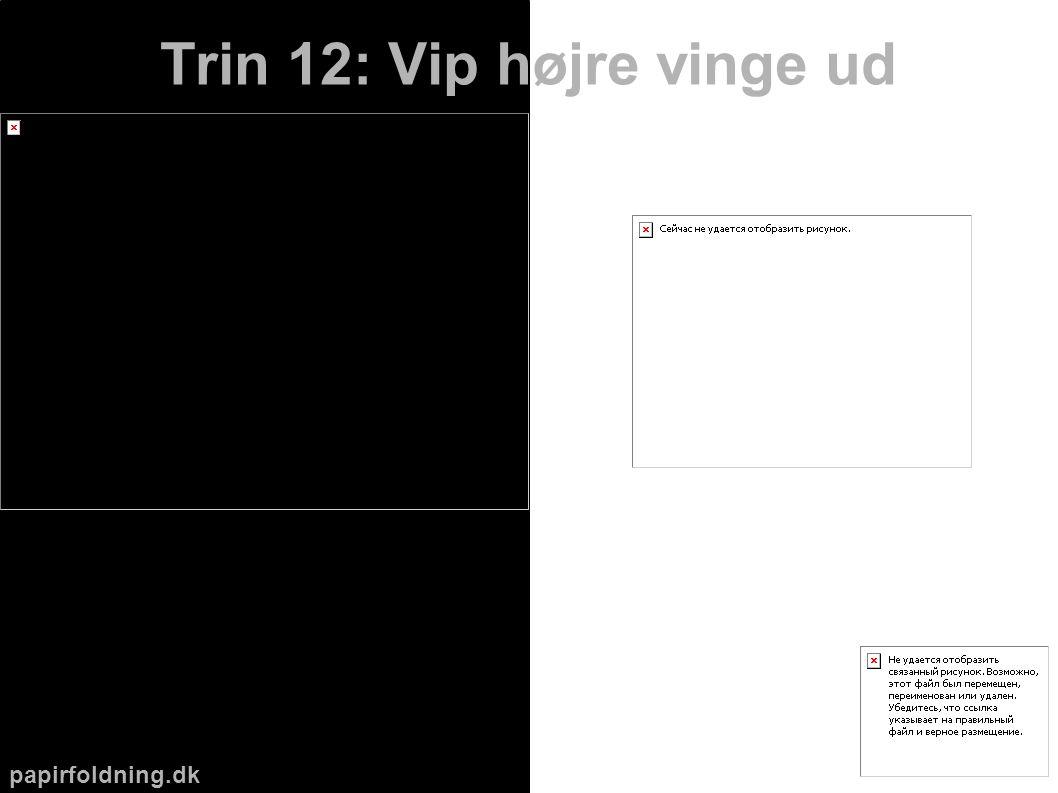 papirfoldning.dk Trin 12: Vip højre vinge ud