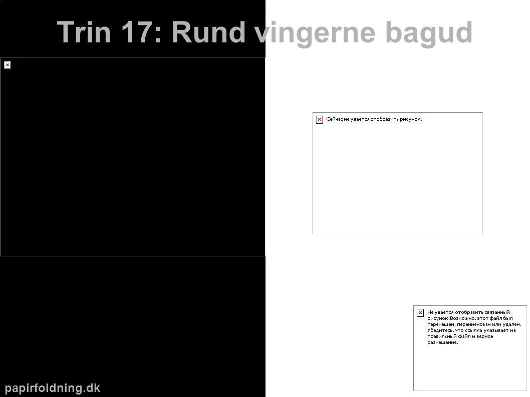papirfoldning.dk Trin 17: Rund vingerne bagud