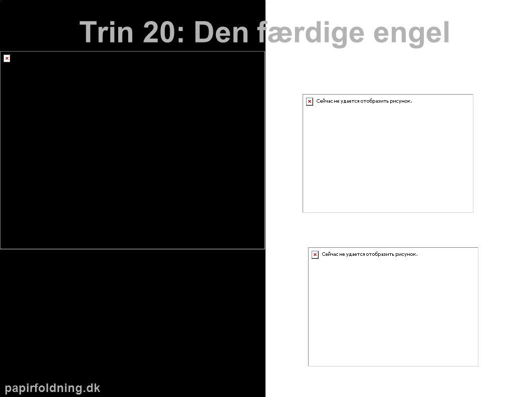 papirfoldning.dk Trin 20: Den færdige engel