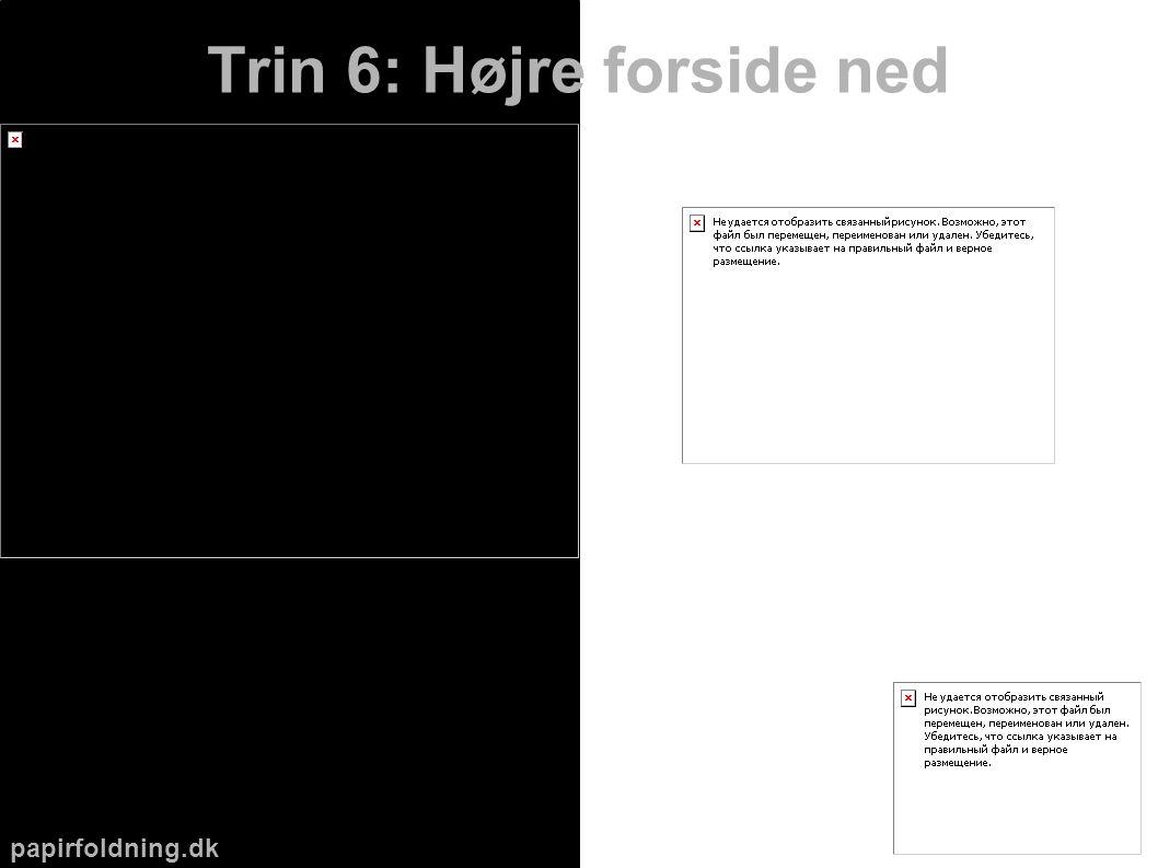 papirfoldning.dk Trin 6: Højre forside ned