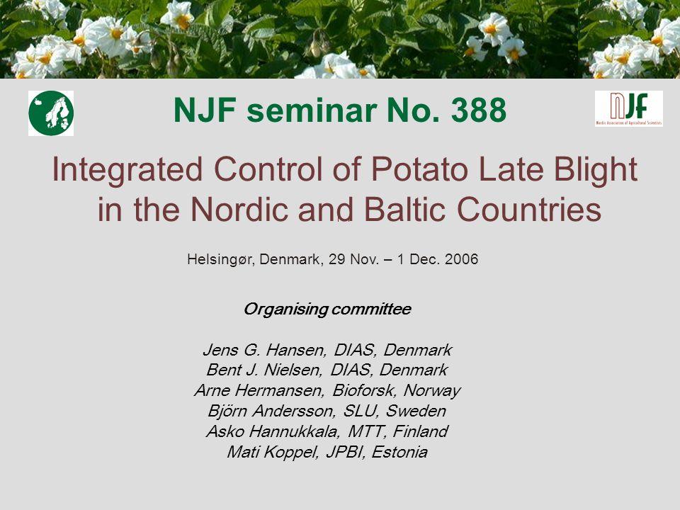 NJF seminar No.