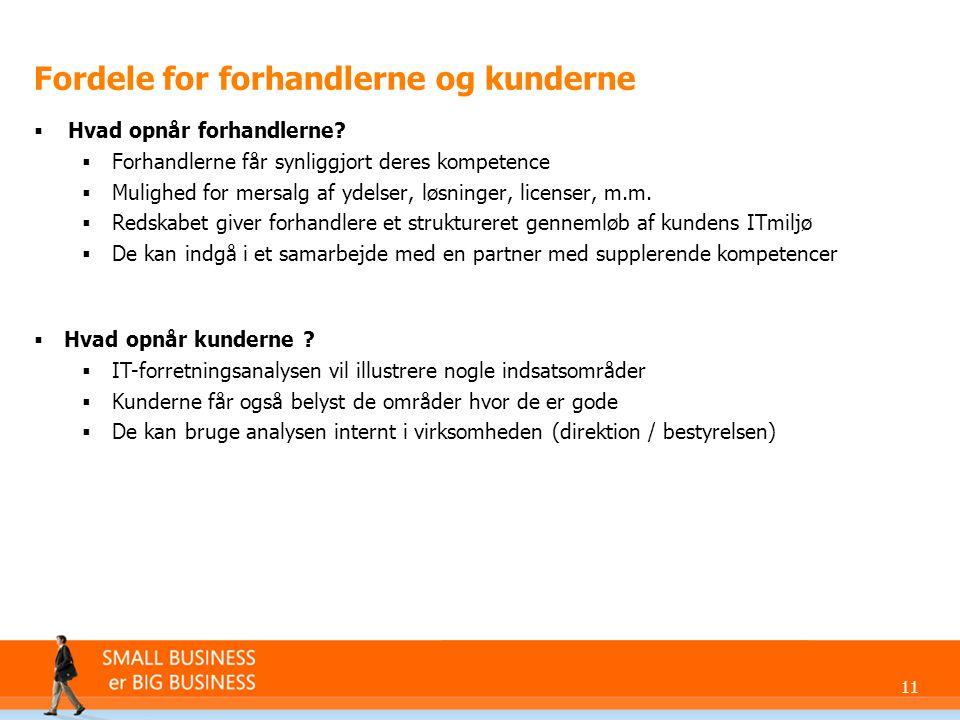 11 Fordele for forhandlerne og kunderne  Hvad opnår forhandlerne.
