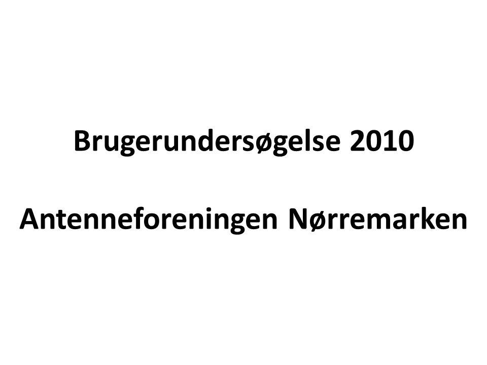 Brugerundersøgelse 2010 Antenneforeningen Nørremarken
