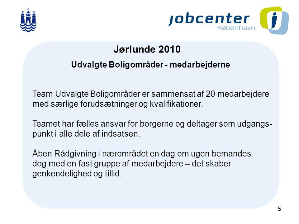 5 J Jørlunde 2010 Udvalgte Boligområder - medarbejderne Team Udvalgte Boligområder er sammensat af 20 medarbejdere med særlige forudsætninger og kvalifikationer.