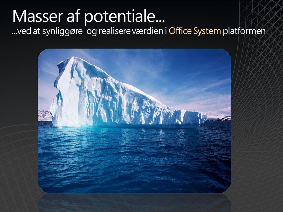 Masser af potentiale......ved at synliggøre og realisere værdien i Office System platformen