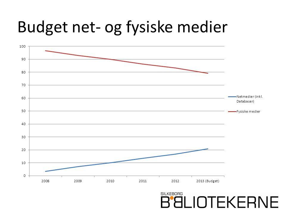 Budget net- og fysiske medier