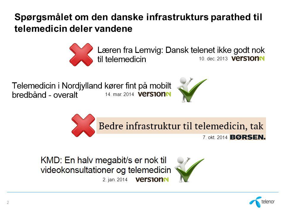 Spørgsmålet om den danske infrastrukturs parathed til telemedicin deler vandene 2 14.