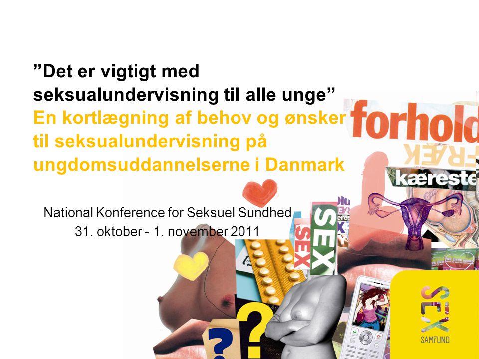 National Konference for Seksuel Sundhed 31. oktober - 1.