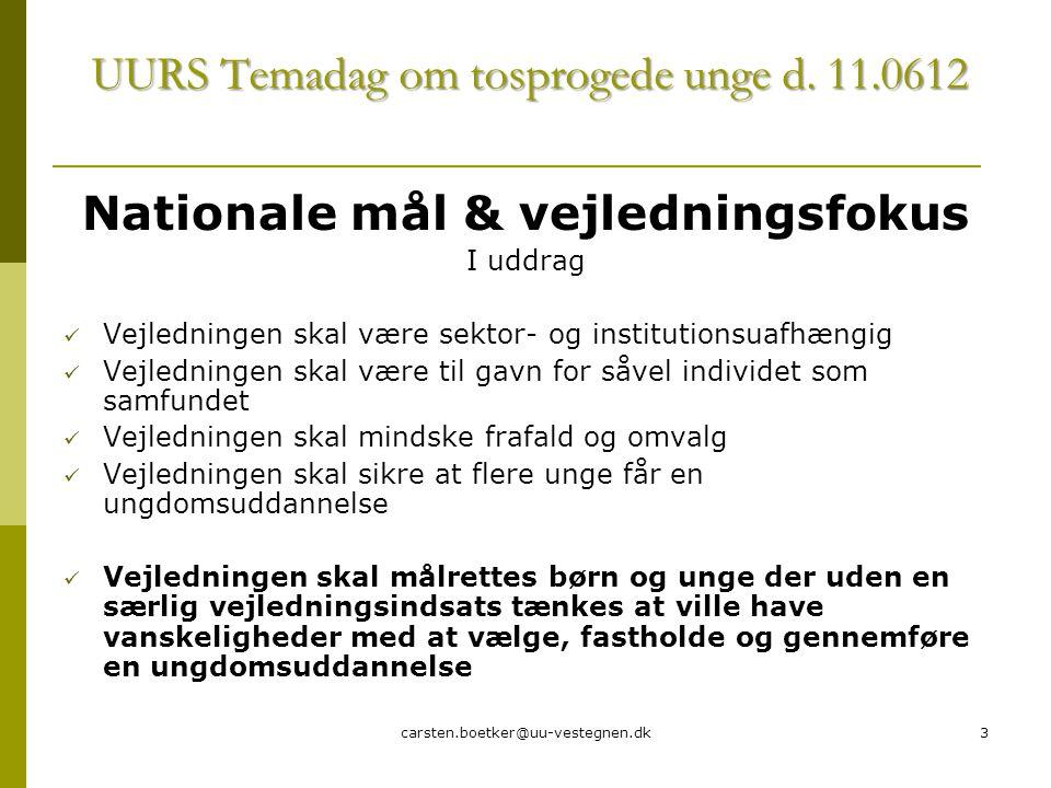 carsten.boetker@uu-vestegnen.dk3 UURS Temadag om tosprogede unge d.