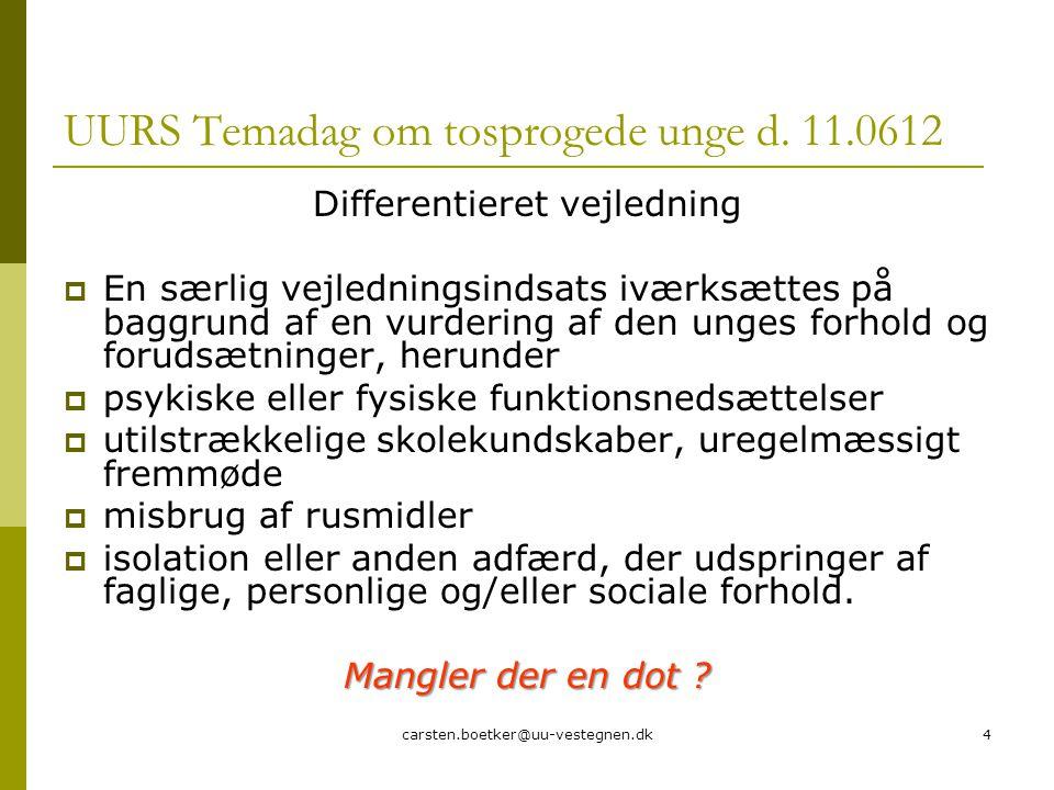carsten.boetker@uu-vestegnen.dk4 UURS Temadag om tosprogede unge d.