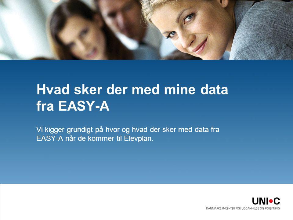 Hvad sker der med mine data fra EASY-A Vi kigger grundigt på hvor og hvad der sker med data fra EASY-A når de kommer til Elevplan.