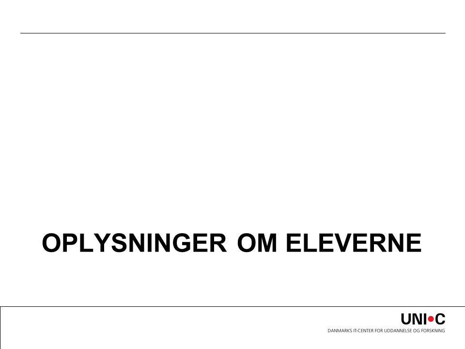 OPLYSNINGER OM ELEVERNE