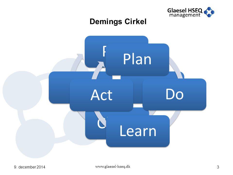 www.glaesel-hseq.dk Demings Cirkel 9. december 20143 PlanDoCheckActPlanDoLearnAct