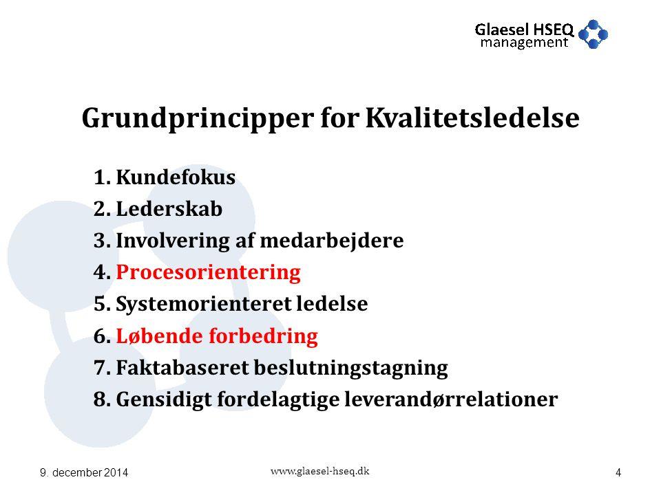 www.glaesel-hseq.dk Grundprincipper for Kvalitetsledelse 1.