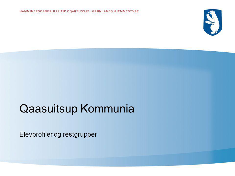 Qaasuitsup Kommunia Elevprofiler og restgrupper