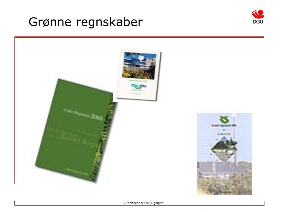 Greenkeeper ERFA-gruppe Grønne regnskaber