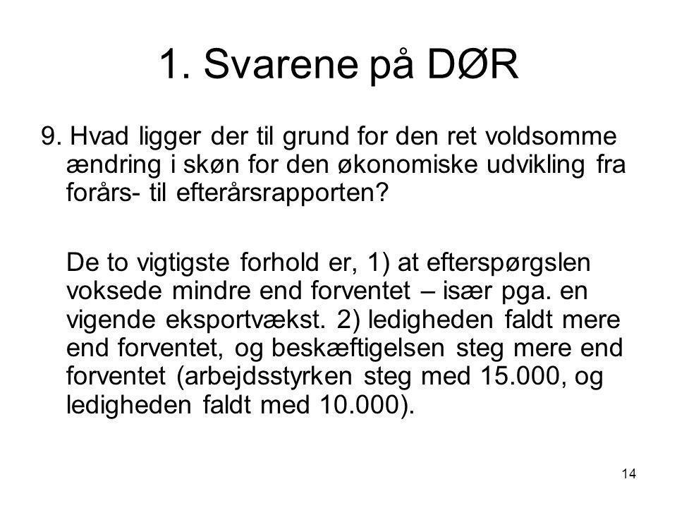 14 1. Svarene på DØR 9.