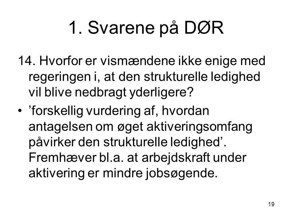 19 1. Svarene på DØR 14.