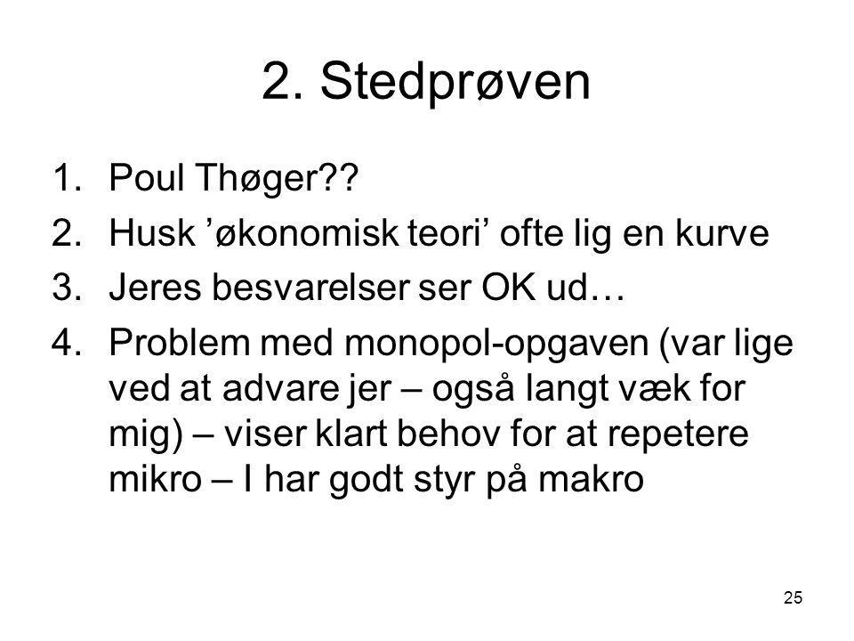 25 2. Stedprøven 1.Poul Thøger .