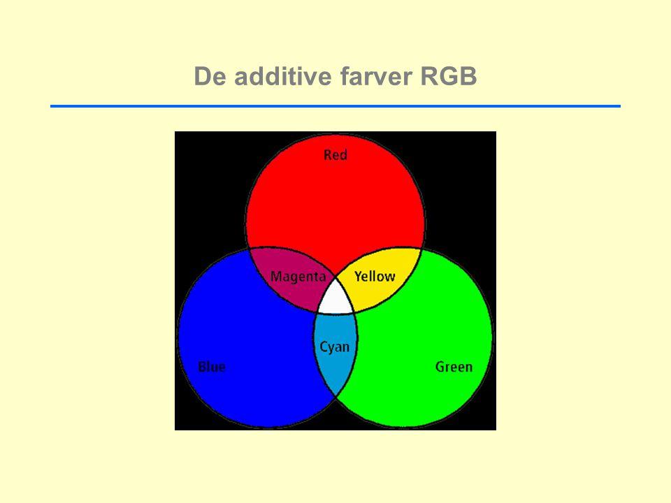 De additive farver RGB