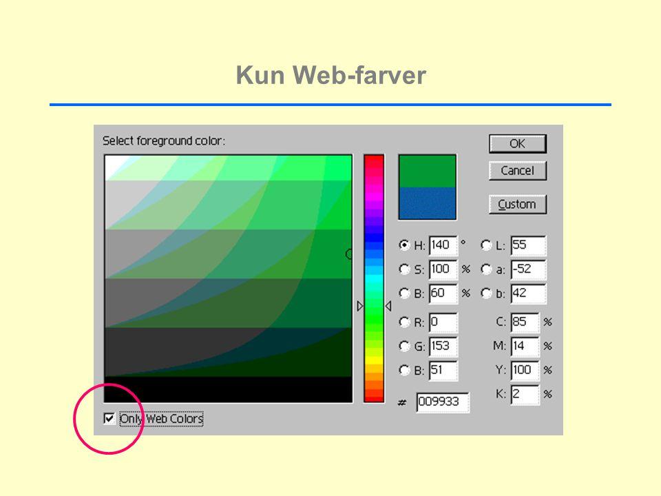 Kun Web-farver