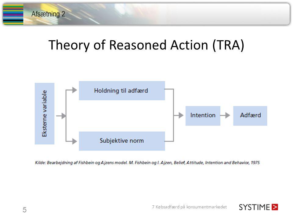 Theory of Reasoned Action (TRA) 7 Købsadfærd på konsumentmarkedet 5
