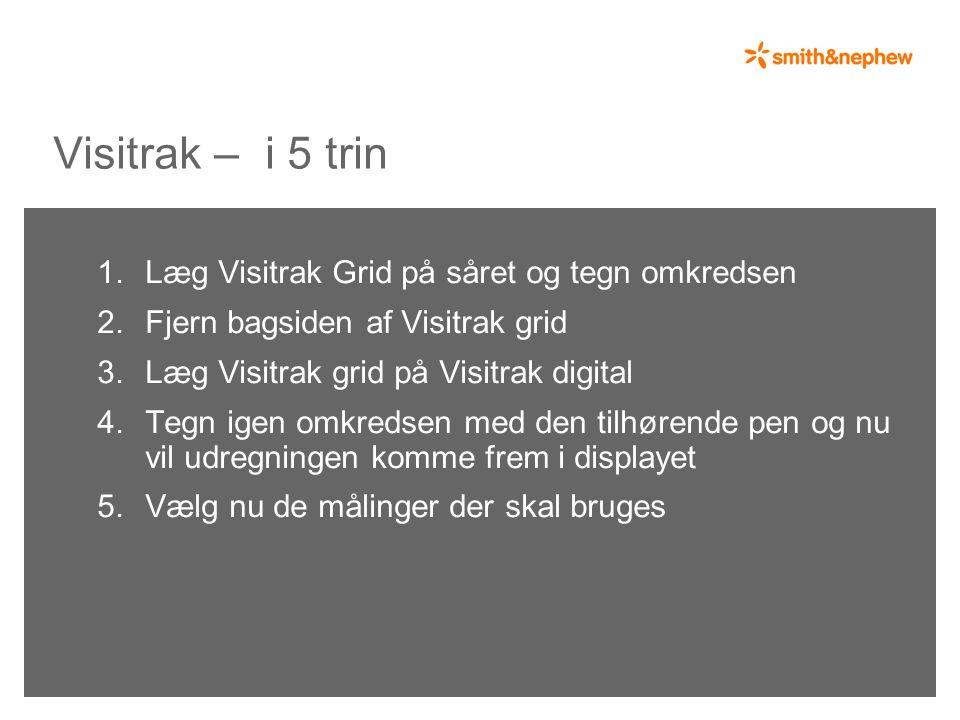 Visitrak – i 5 trin 1. Læg Visitrak Grid på såret og tegn omkredsen 2.