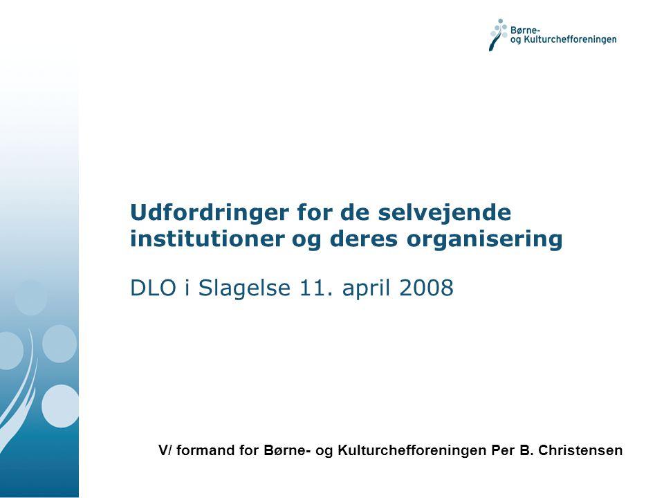 Udfordringer for de selvejende institutioner og deres organisering DLO i Slagelse 11.