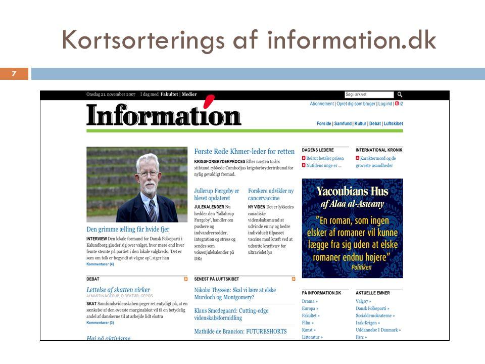 Kortsorterings af information.dk 7