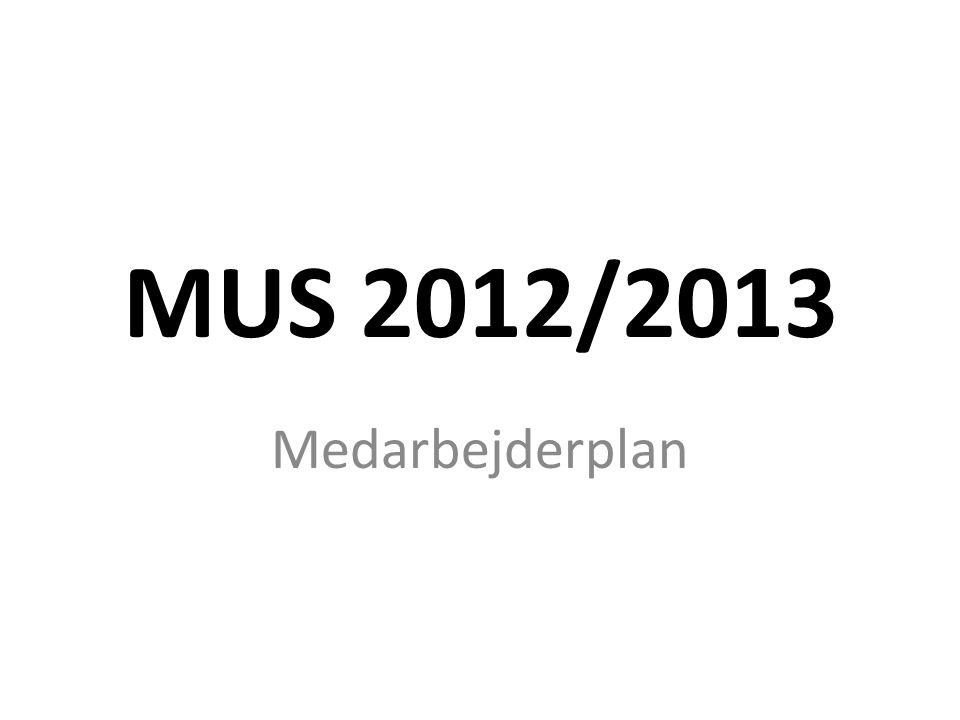 MUS 2012/2013 Medarbejderplan